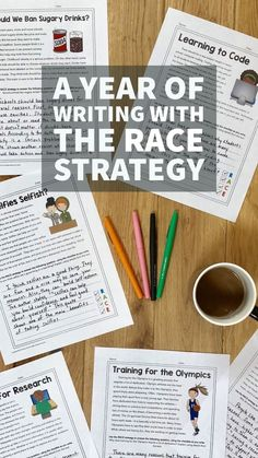 Start the year off strong with the RACE Strategy for writing. This packet has 40 passages and questions to get your kids practicing citing the text! Writing Strategies, Writing Lessons, Teaching Writing, Writing Skills, Writing Prompts, Teaching Ideas, Race Writing, Writing Assignments, Writing Ideas