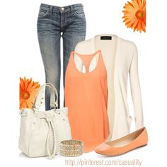 Peach & Denim - Polyvore