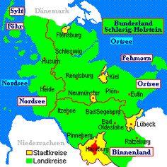 Map of Schleswig-Holstein-We were stationed in Flensburg