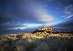 David Webb Enchanting Skies Over Bamburgh Castle Northumberland, England Abandoned Castles, Landscape Photographers, Amazing Photography, Monument Valley, Scotland, To Go, Sky, Gallery, Places