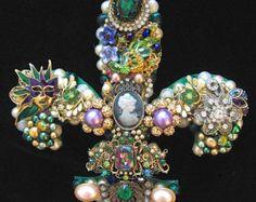Vintage Jewelry Christmas Tree Christmas Tree by ArtCreationsByCJ