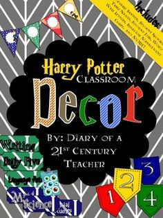 Harry Potter (JK Rowling) Classroom Decor Bundle -- Downloadable Harry Potter Themed Classroom! #classroomdecor #bulletinboards #harrypotter