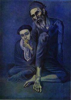 Le mendiant et l'enfant - Pablo Picasso