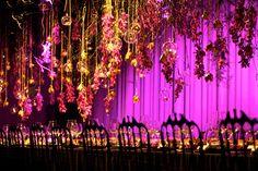 Suspended Wedding Centerpieces   Floral Chandeliers   bellethemagazine.com