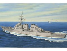The Hobby Boss USS Arleigh Burke DDG-51 Model Kit in 1/700 scale from the plastic ship model range accurately recreates the real life US guided-missile destroyer. This Hobby Boss ship model requires paint and glue to complete.