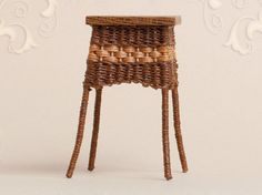 WC/021, wicker end table, scale 1 : 12, made by Will Werson.