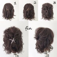 HAIR (Hair) is a hairstylist that a stylist model emits … - Beauty Tips & Tricks Pretty Hairstyles, Braided Hairstyles, Hairstyles For Short Hair Easy, Hairstyle Ideas, Hairstyles Short Hair, Hair Do For Medium Hair, Wedding Hairstyles, Step Hairstyle, Haircut Short