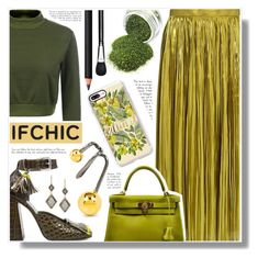 """Ifchic"" by becky12 ❤ liked on Polyvore featuring TIBI, SUNO New York, Maria Black, Casetify, Hermès, INIKA, MAC Cosmetics, Dana Kellin, ifchic and worldwideshipping"