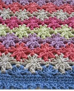 3 stitch Catherine's Wheel, great star effect/free pattern/ ravelry download-free