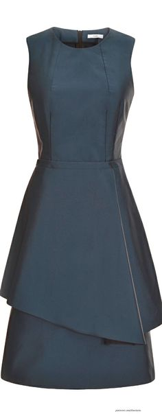 Tome ● Fall 2014, Navy Peplum Dress