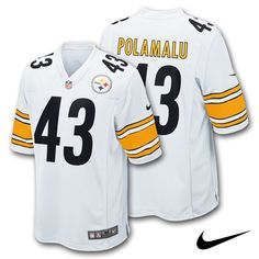 70a9759af7 Troy Polamalu Pittsburgh  Steelers Adult NFL Nike Game Jersey - White.  Click to order