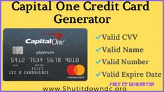 Capital One Credit Card Numbers Generator - Valid CVV Details - free cc generator