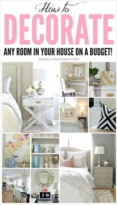 GREAT resource to help you make the MOST of what you already have! Tons of DIY and budget decorating ideas for even the tiniest budgets. Home Renovation, Home Interior, Interior Design, Home And Deco, Decorating On A Budget, Decorating A New Home, Interior Decorating, My New Room, Home Projects