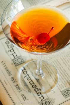 Perfect Manhattan: September is National Bourbon month, so it would be wrong not to participate, right?
