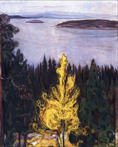 View from Nordstrand 1900. Edward Munch (1863-1944)