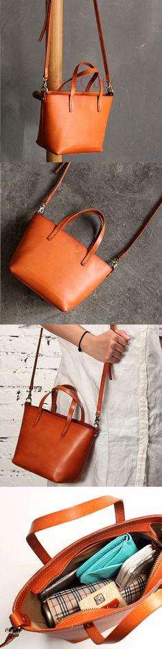 Handmade leather vintage women tote bag shoulder bag crossbody bag