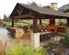 A beautiful outdoor kitchen is a MUST!