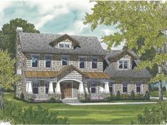 Craftsman House Plan with 2332 Square Feet and 3 Bedrooms(s) from Dream Home Source | House Plan Code DHSW65408