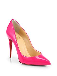 Hello lover...These beauties will be mine one day, very soon <3 Christian Louboutin Pigalle Follies Patent-Leather Pumps