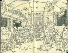 Inspiration Hut - 100+ Beautiful Moleskine Sketchbook Sketches - Illustration, Inspiration