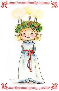 Lucia * doro k. Swedish Christmas Traditions, Christmas Images, Scandinavian Christmas, Kids Christmas, Vintage Christmas, Christmas Crafts, Santa Lucia, St Lucia Day, Childrens Christmas
