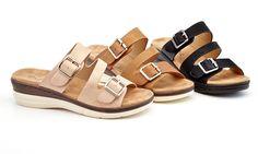 08311e7afaeda Lady Godiva Alessandra Women s Slide Wedge Sandals (Sizes 8  amp  8.5) Lady  Godiva