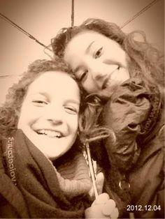 Giù Giù & Me with umbrella