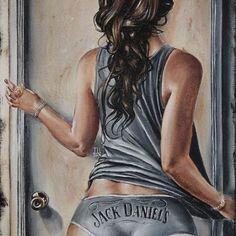 Jeremy Worst – Pin-Up distillées Digital Foto, Digital Art Girl, Sexy Drawings, Art Drawings, Jack Daniels Wallpaper, Foto Hdr, Arte Black, Sexy Painting, Whiskey Girl