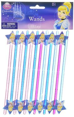 Disney Cinderella Magic Wand Birthday Party Favour (12 Pack), Multi Color, 6 5/8 x 1 5/8. >>> Check out this great image @ : baking decorations