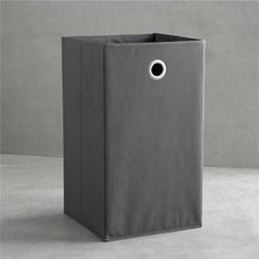 Grey Folding Hamper with Grommet - contemporary - hampers - Crate&Barrel