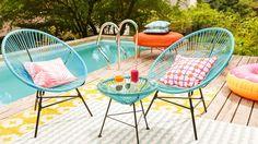 """Miami Style   Florida ist jetzt ganz nah: Mit poppigen Pool-Accessoires, luftigen Liegeb Geschirr in Happy Colors, Palmen-Prints und Flamingos beginnt Ihr persönlicher """"Fun in the Sun""""."""