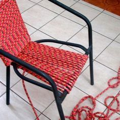Climbing rope chair.
