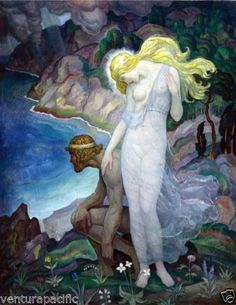 Odysseus-and-Calypso-N-C-Wyeth-circa-1929-Greek-Mythology  $39
