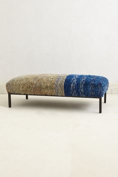 Color Blocked Ottoman - Anthropologie.com