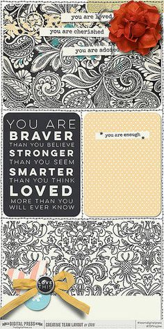 You are Loved Collection by Mari Koegelenberg    Project Twenty Fifteen (Vol. 5- The Inserts) Templates by Laura Passage
