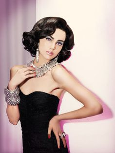 Old Hollywood - Liz Taylor Inspired by Oribe || ModernSalon.com