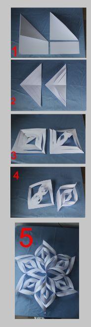 Een sneeuwvlok / kerstster van papier maken