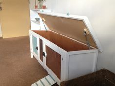 Rustic Style Indoor Rabbit House / Hutch