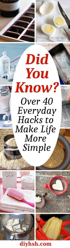 Did You Know - Over 40 Everyday Hacks #LifeHacks #TipsandTrick #Home #DIY #DidYouKnow