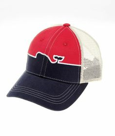 Men's Hats: Whale Line Trucker Hat - Vineyard Vines