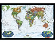 214 best world map images on pinterest wall maps cork boards and cork buy laminated world wall map online in x 31 inch of famous brand national geographic for home classroom or office gumiabroncs Images