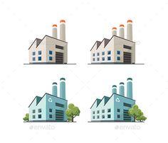 Factory Building Illustration