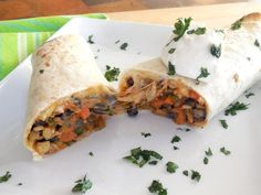 Vegetable-and-Bean Burritos