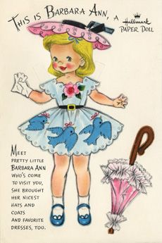 "barbara ann Vivian ""Viv"" Trillow Smith is best known as the artist who designed the popular Dolls from the Land of Make Believe and Dolls of the Nations series published in 1947 and 1948. ""This is ... A Hallmark Paper Doll"" series of the fifties"