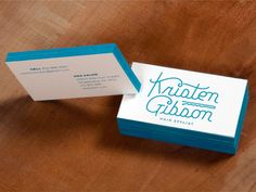 Screen Printed Business Cards http://dribbble.com/shots/867028-Screen-Printed-Business-Cards?list=users