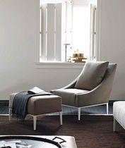 contemporary armchair with footstool by Antonio Citterio JEAN B Italia