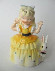 Napco Vintage Alice in Wonderland planter 1956. Rare, immaculate. (08/05/2014)