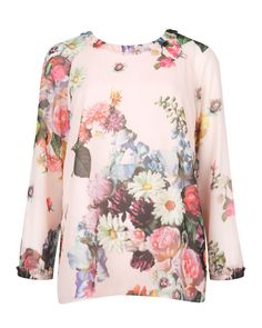 Oil painting top - Nude Pink | Tops & T-shirts | Ted Baker UK