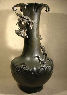 Meiji Bronze Dragon Vase - Japan   Meiji Period, 1868-1912