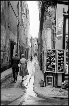 Rue Visconti, Paris, 1954. Photograph by Inge Morath.